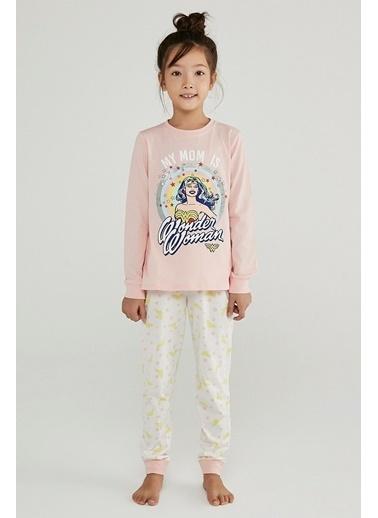 Penti Kız Çocuk Çok Renkli Wonder Woman Stars 2'li Pijama Takım PNWX706B20SK Renkli
